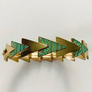 Arrow Gold Turquoise Stretch Bracelet